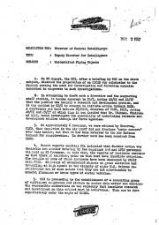 Меморандум Чадуэлла от 2 декабря 1952 года, стр. 1