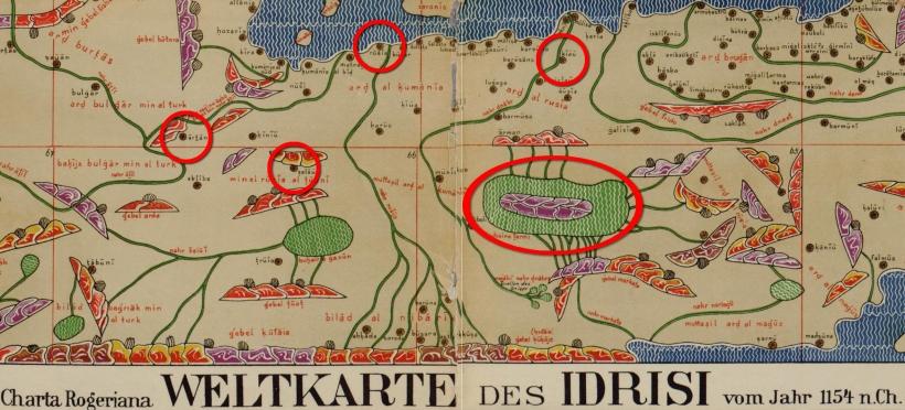 Артания на карте Идриси