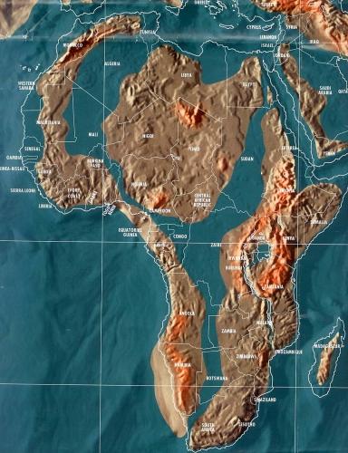 Будущая карта Африки по Скаллиону