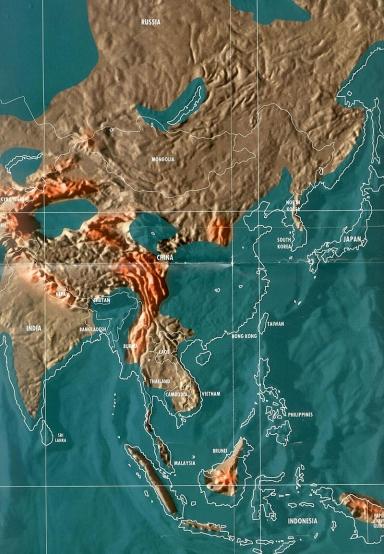 Будущая карта Азии по Скаллиону