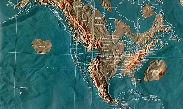 Будущая карта Северной Америки по Скаллиону