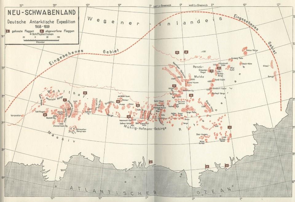 Карта Новой Швабии