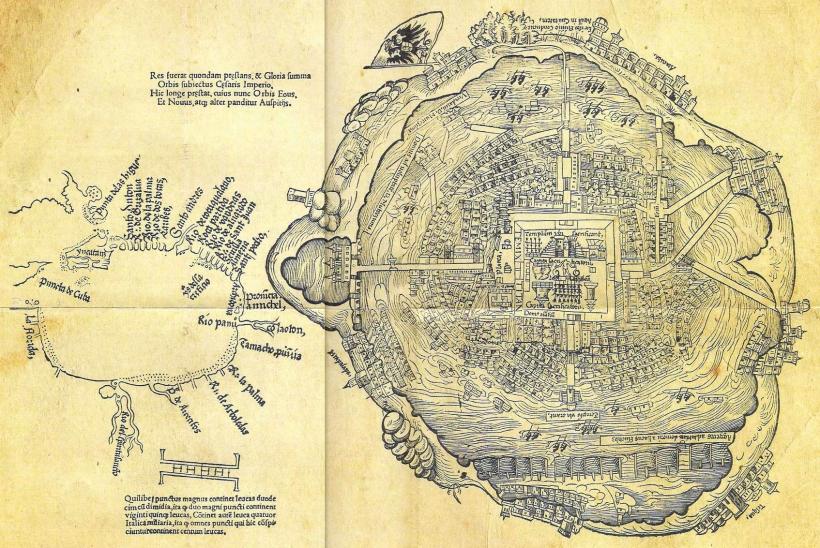 План города Теночтитлана, 1519 год