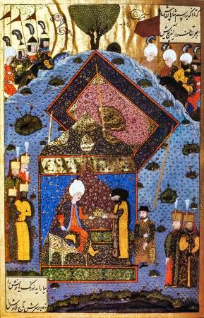 Султан Сулейман возвращает Священную корону королю Яношу I