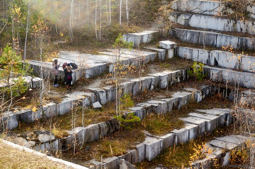 Заброшенный мраморный карьер под Искитимом