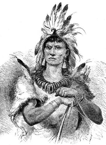Вождь индейцев-повхатанов (Powhatan)