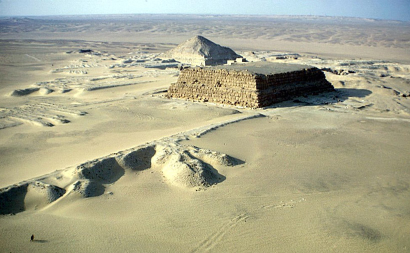 The Unfinished Pyramid, Zawiyet el-Aryan, Egypt. Photographer: Elisofon, Eliot