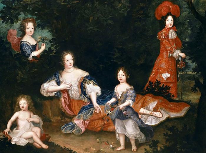 Мадам де Монтеспан с детьми