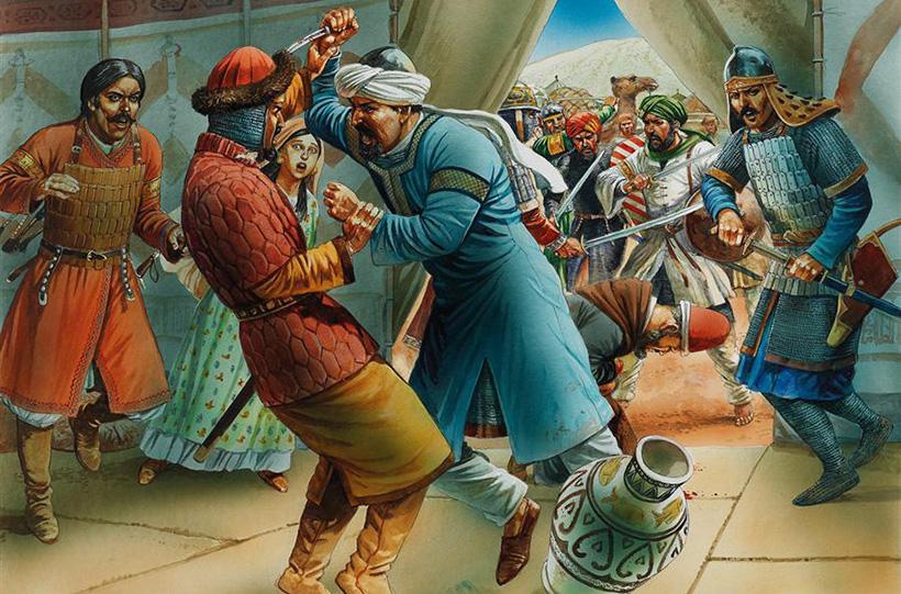 Нападение ассасинов на Саладина