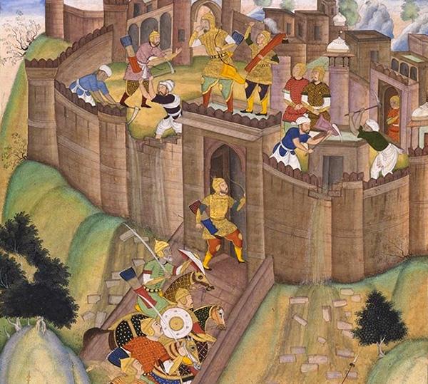 Хулагу разрушает крепость Аламут