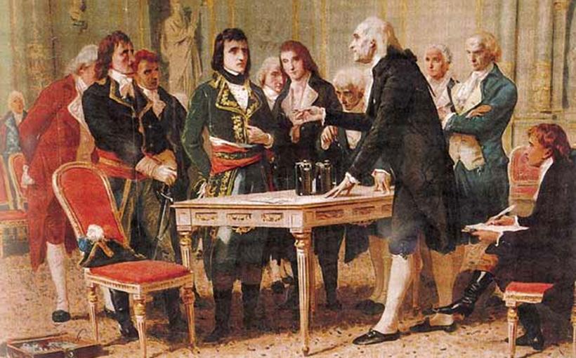 Алессандро Вольта демонстрирует Наполеону своё изобретение