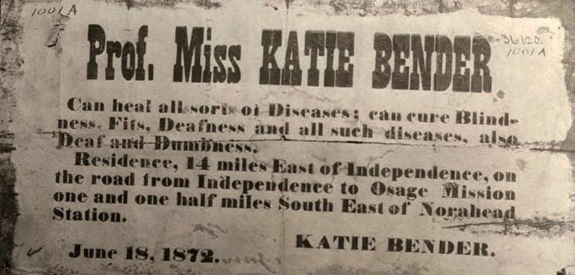 Объявление Кейт Бендер в газете