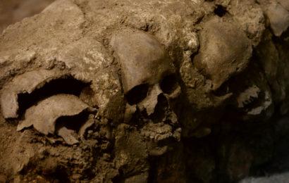 В Мехико найдена башня ацтеков из человеческих черепов