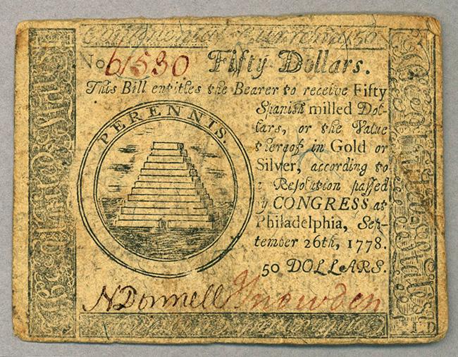 50 континентальных долларов