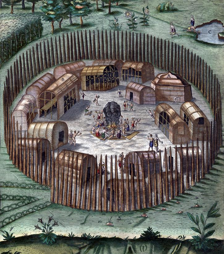 Новый укрепленный форт англичан в глубине острова