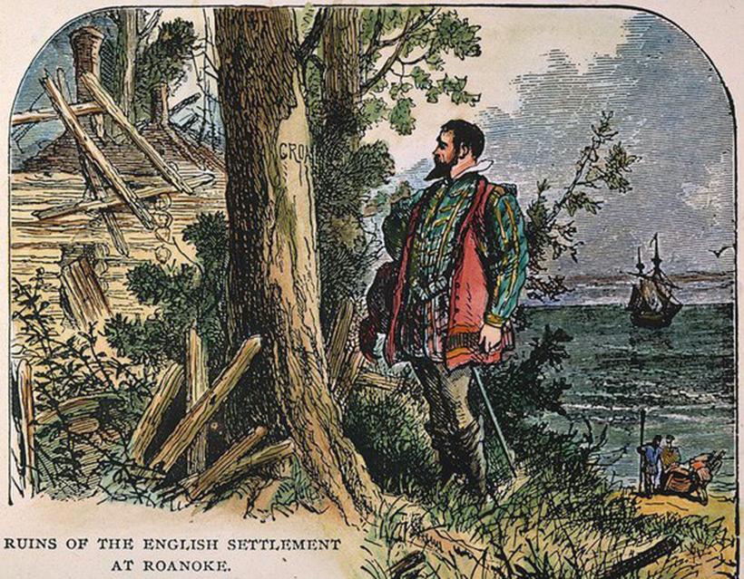 По возвращению на Роанок, Джон Уайт не обнаружил ни одной живой души