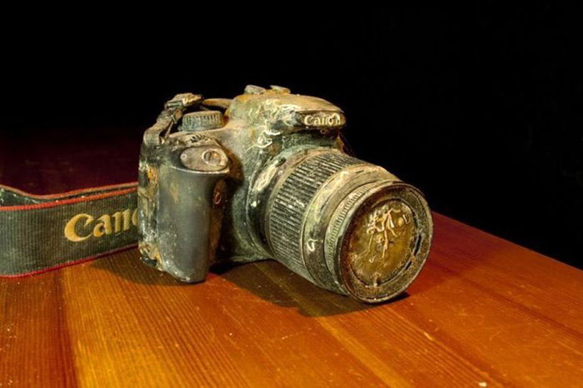 Фотоаппарат, пролежавший на морском дне около год