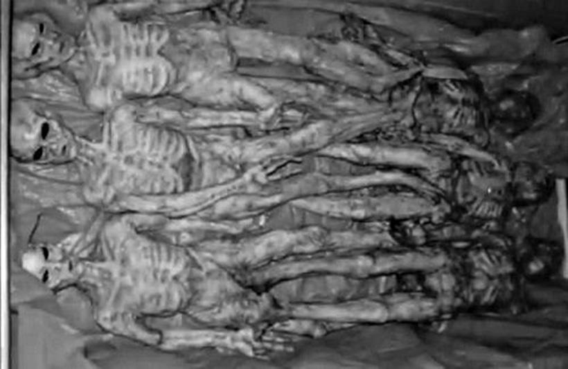 Тела инопланетян после инцидента под Розуэлл