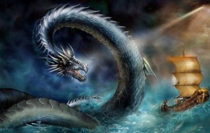 Рядом с морским чудовищем