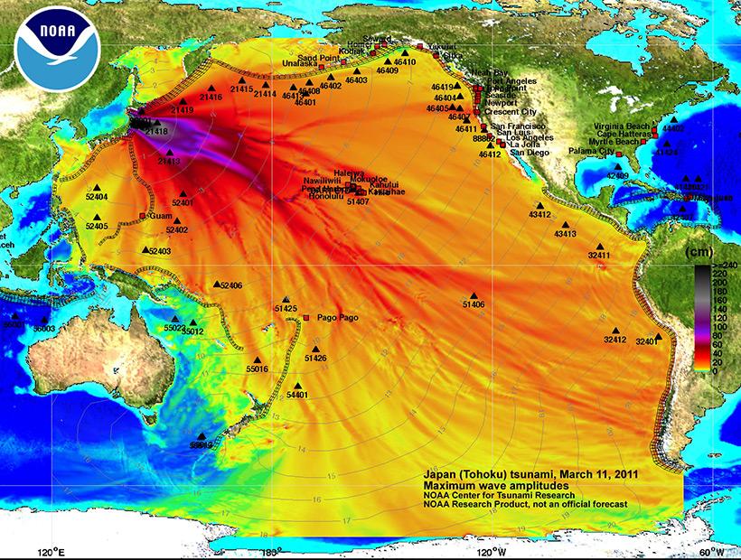 Карта заражения Тихого океана