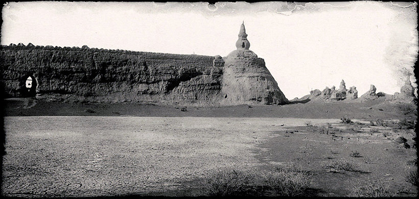 Северная стена крепости Хара-Хото