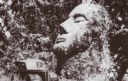 Гигантская каменная голова в Гватемале