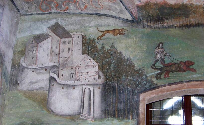 Фрески в Зеленой комнате