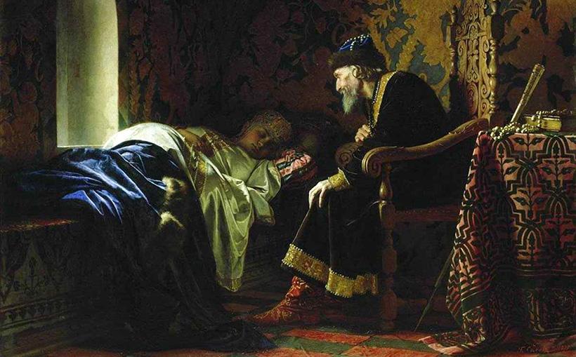 Царь Иоанн Грозный любуется на Василису Мелентьеву