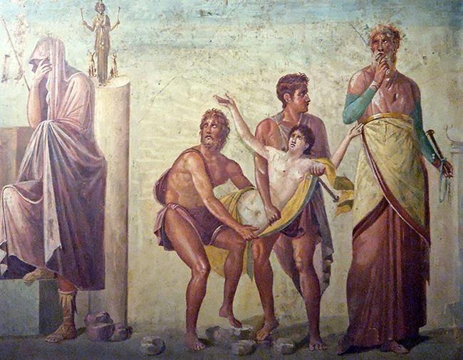 Калхас приносит в жертву Ифигению