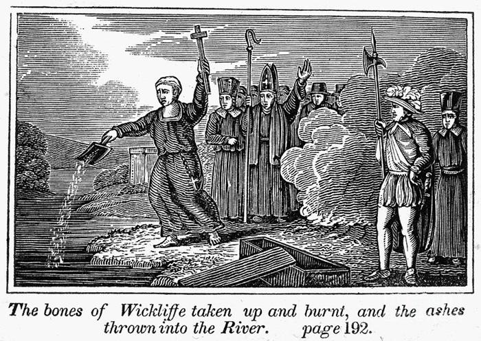 Пепел Уиклифа выбросили в реку