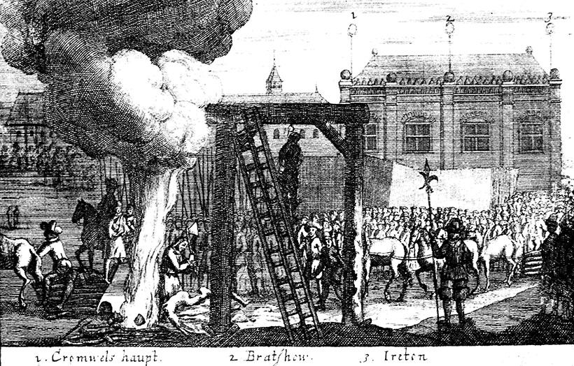 Казнь тел Кромвеля, Брэдшоу и Айртона в Тайберне