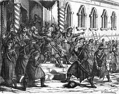 Стрелецкий бунт. 1682. Возмущение стрельцов в Москве