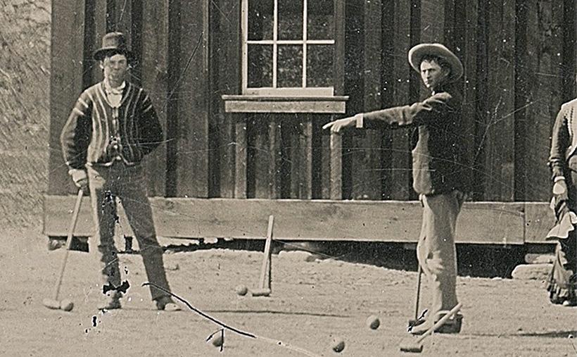 Билли Кид играет в крокет