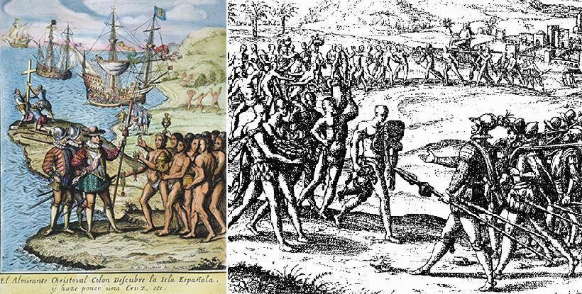 Открытие Гаити Колумбом
