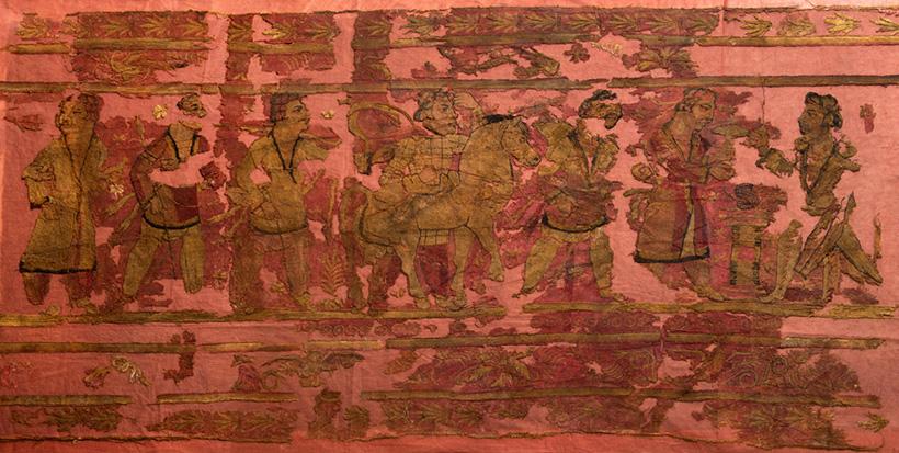 Фрагмент вышитой шерстяной завесы