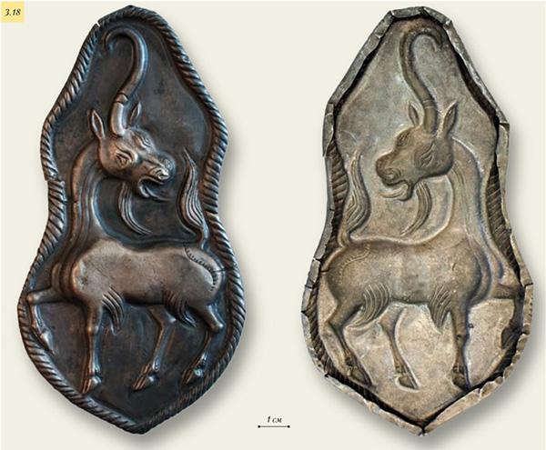 Серебряная бляха с изображением единорога