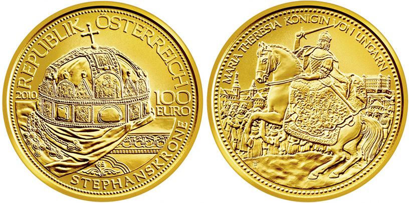 Золотая австрийская монета