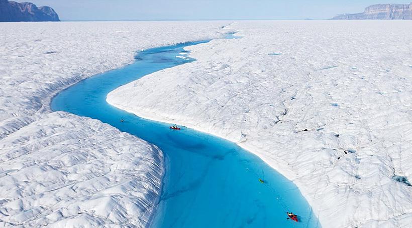 Синяя река