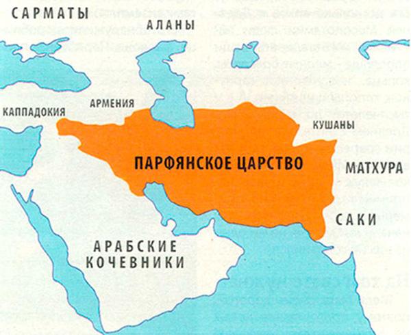 Карта Парфянского царства