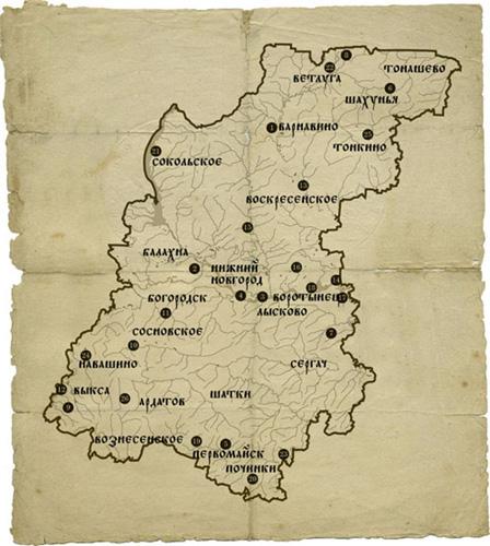 Карта кладов волжских разбойников