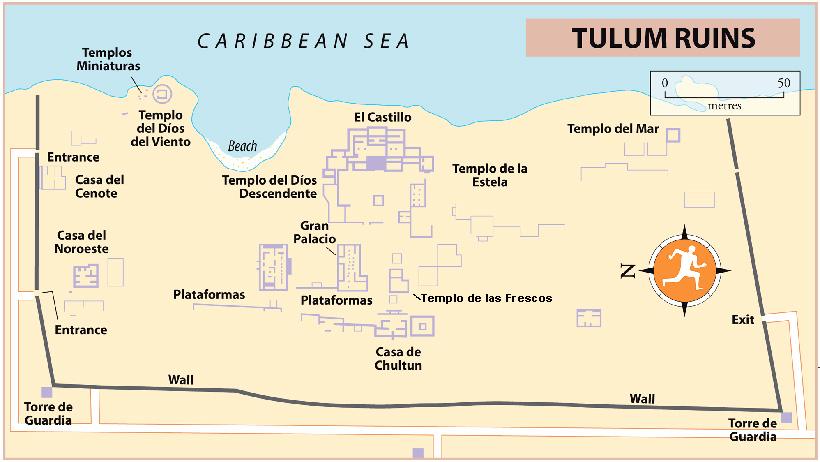 Карта Тулума
