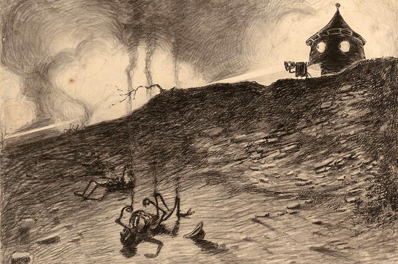 Марсианин смотрит на убитых