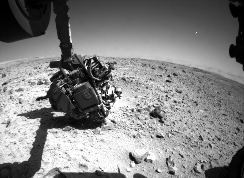 НЛО отлично виден на снимке, который сделал марсоход Curiosity