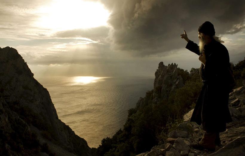 Монах на святой горе