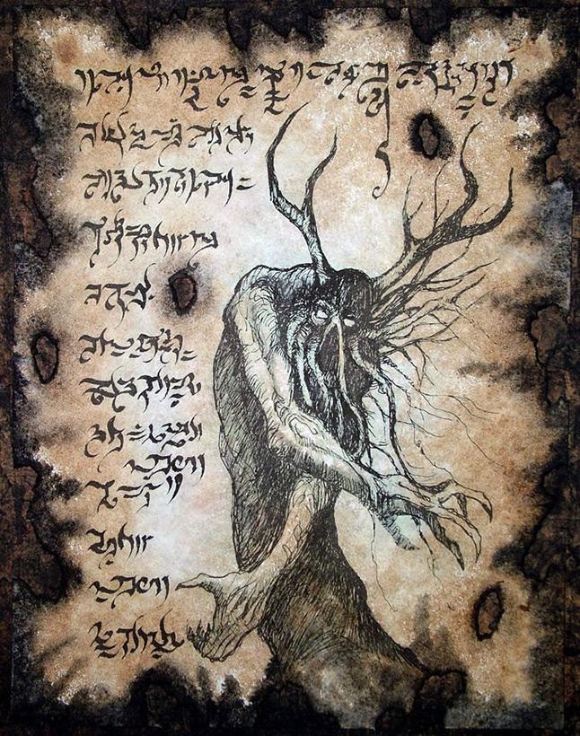 Иллюстрации из книги «Некрономикон», часть 2