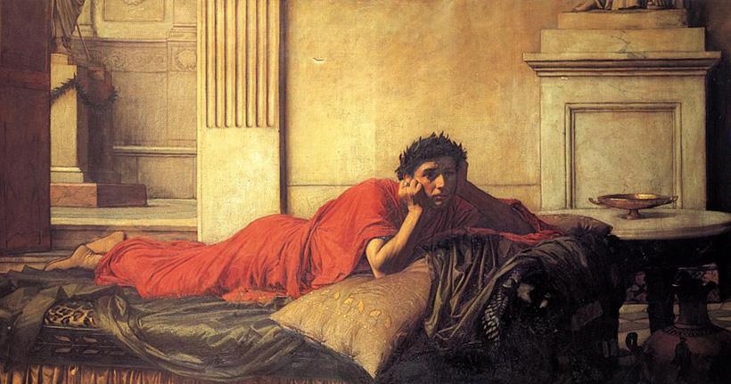 Нерон мучается от угрызений совести после убийства матери
