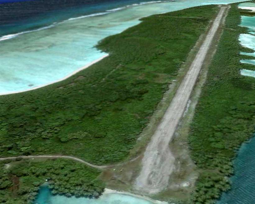 Взлетно-посадочная полоса на острове Купер