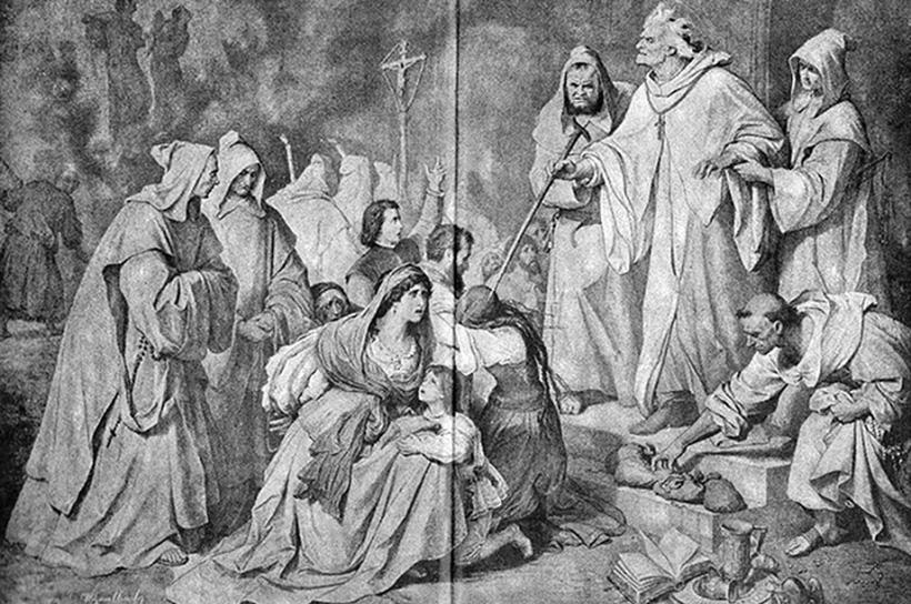 Педро де Арбуэс осуждает на смерть семейство еретика