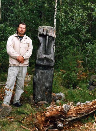 Алексей Попов рядом с идолом