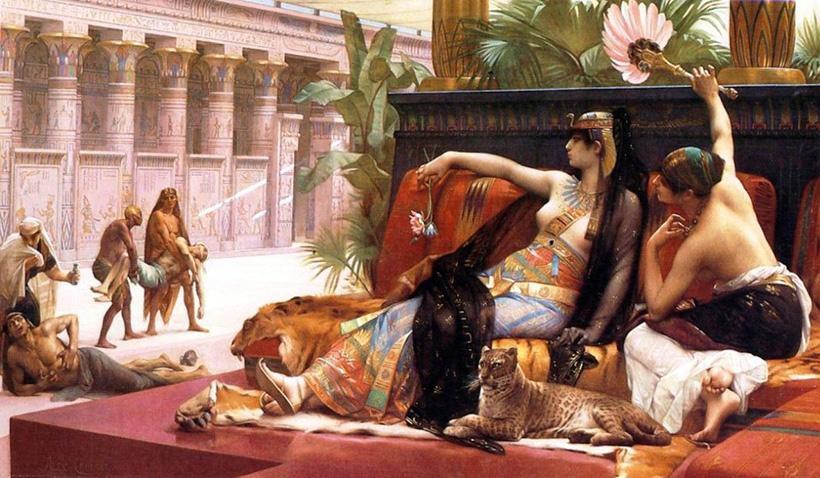 Клеопатра испытывает яд на узниках